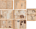 Movie/TV Memorabilia:Documents, A Bela Lugosi Group of Personally-Owned Scrapbooks, 1920s-1950s.... (Total: 3 Items)