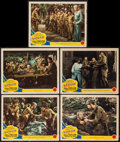 "Movie Posters:War, Bataan (MGM, 1943). Lobby Cards (5) (11"" X 14""). War.. ... (Total:5 Items)"