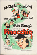 "Movie Posters:Animation, Pinocchio (Buena Vista, R-1962). Poster (40"" X 60""). Animation....."