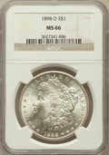 Morgan Dollars: , 1898-O $1 MS66 NGC. NGC Census: (1875/174). PCGS Population(1875/159). Mintage: 4,440,000. Numismedia Wsl. Price for probl...