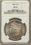 Morgan Dollars: , 1884-S $1 AU53 NGC. NGC Census: (1002/3425). PCGS Population(994/2531). Mintage: 3,200,000. Numismedia Wsl. Price for prob...