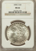 Morgan Dollars: , 1898-O $1 MS66 NGC. NGC Census: (1876/174). PCGS Population(1875/159). Mintage: 4,440,000. Numismedia Wsl. Price for probl...