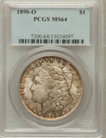 Morgan Dollars: , 1890-O $1 MS64 PCGS. PCGS Population (3348/485). NGC Census:(2749/191). Mintage: 10,701,000. Numismedia Wsl. Price for pro...