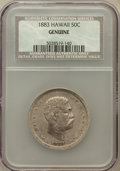 Coins of Hawaii, 1883 50C Hawaii Half Dollar Genuine NCS. Mintage: 700,000....