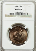 Franklin Half Dollars: , 1952 50C MS65 Full Bell Lines NGC. NGC Census: (271/94). PCGSPopulation (1033/268). Numismedia Wsl. Price for problem fre...