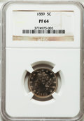 Proof Liberty Nickels: , 1889 5C PR64 NGC. NGC Census: (227/303). PCGS Population (280/306).Mintage: 3,336. Numismedia Wsl. Price for problem free ...