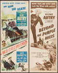 "Movie Posters:Western, Whirlwind and Other Lot (Columbia, 1951). Inserts (2) (14"" X 36""). Western.. ... (Total: 2 Items)"