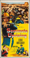 "Movie Posters:Adventure, Seminole Uprising & Others Lot (Columbia, 1955). Three Sheets(5) (41"" X 77"", 41"" X 78"", & 41"" X 79""). Adventure.. ...(Total: 5 Items)"