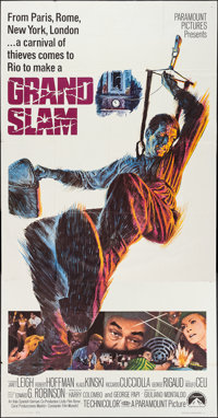 """Grand Slam & Other Lot (Paramount, 1968). Three Sheets (2) (41"""" X 79""""). Action. ... (Total: 2 Items)"""
