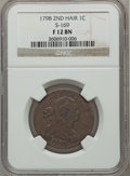 Large Cents, 1798 1C Second Hair Style, S-169, B-28, R.3 Fine 12 NGC. PCGSPopulation (0/2). ...