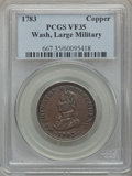 Colonials: , 1783 1C Washington & Independence Cent, Large Military BustVF35 PCGS. PCGS Population (24/174). NGC Census: (5/64). ...