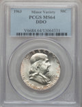 Franklin Half Dollars, 1963 50C Double Die Obverse MS64 PCGS. PCGS Population(10804/2317). NGC Census: (4244/4799). Mintage: 22,100,000.Numismed...