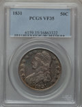 Bust Half Dollars: , 1831 50C VF35 PCGS. PCGS Population (87/1576). NGC Census:(49/1437). Mintage: 5,873,660. Numismedia Wsl. Price for problem...
