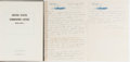 Books:Americana & American History, [WWII Submarine Operations] Autograph Letter Written by an Officerof the Submarine USS Grayback (SS 208) Weeks Be...