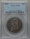 Bust Half Dollars: , 1829 50C Small Letters XF40 PCGS. PCGS Population (162/1069). NGCCensus: (71/968). Mintage: 3,712,156. Numismedia Wsl. Pri...