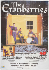 """The Cranberries """"Free to Decide World Tour"""" Subway Poster (Spain, 1996)"""