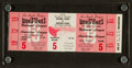 Baseball Collectibles:Tickets, 1959 World Series Game 5 Full Ticket....