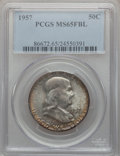 Franklin Half Dollars, (2)1957 50C MS65 Full Bell Lines PCGS. ... (Total: 2 coins)