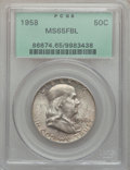 Franklin Half Dollars, (2)1958 50C MS65 Full Bell Lines PCGS. ... (Total: 2 coins)