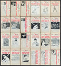 "Baseball Cards:Autographs, 1960 ""Baseball Hi Lites"" Signed Cards Lot of 24...."