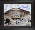 Baseball Collectibles:Photos, Dodgers Greats Multi Signed Ebbets Field Oversized Photograph....