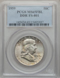 Franklin Half Dollars, 1959 50C Double Die Reverse MS65 Full Bell Lines PCGS. FS-801. PCGSPopulation (781/33). NGC Census: (199/14). Numismedia ...