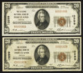 National Bank Notes:Oregon, Portland, OR - $20 1929 Ty. 1 The Citizens NB Ch. # 13299, Two Examples.. ... (Total: 2 notes)