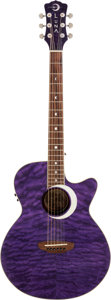 Musical Instruments:Acoustic Guitars, 2000's Luna Eclipse Purple Acoustic Guitar....