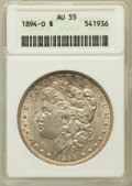 Morgan Dollars: , 1894-O $1 AU55 ANACS. NGC Census: (514/1725). PCGS Population(571/1674). Mintage: 1,723,000. Numismedia Wsl. Price for pro...