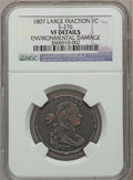 Large Cents, 1807 1C Large Fraction, S-276, B-6, R.1 -- Environmental Damage --NGC Details. VF. NGC Census: (0/0). PCGS Population (0...