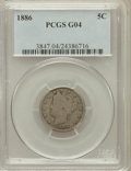 Liberty Nickels: , 1886 5C Good 4 PCGS. PCGS Population (73/789). NGC Census:(62/436). Mintage: 3,330,290. Numismedia Wsl. Price for problem ...