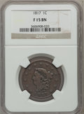 Large Cents: , 1817 1C 13 Stars Fine 15 NGC. NGC Census: (5/318). PCGS Population(3/297). Mintage: 3,948,400. Numismedia Wsl. Price for p...