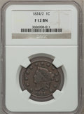 Large Cents: , 1824/2 1C Fine 12 NGC. NGC Census: (2/25). PCGS Population (3/45).Mintage: 1,262,000. Numismedia Wsl. Price for problem fr...