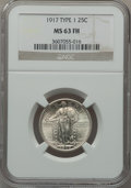 Standing Liberty Quarters: , 1917 25C Type One MS63 Full Head NGC. NGC Census: (684/2401). PCGSPopulation (1129/3143). Mintage: 8,740,000. Numismedia W...