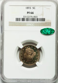 Proof Liberty Nickels: , 1893 5C PR66 NGC. CAC. NGC Census: (35/10). PCGS Population (26/0).Mintage: 2,195. Numismedia Wsl. Price for problem free ...