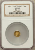 California Fractional Gold, 1872 50C Liberty Octagonal 50 Cents, BG-913, R.4, MS66 NGC....