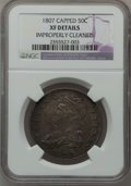 Bust Half Dollars: , 1807 50C Large Stars, 50 Over 20 -- Improperly Cleaned -- NGCDetails. XF. NGC Census: (53/1065). PCGS Population (49/165)....