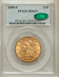 Liberty Eagles, 1888-S $10 MS63+ PCGS. CAC....