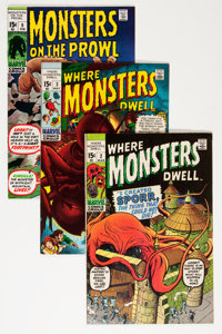 Monsters on the Prowl/Where Monsters Dwell Group (Marvel, 1970-71) Condition: Average VF/NM.... (Total: 6 Comic Books)