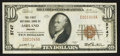National Bank Notes:Oregon, Ashland, OR - $10 1929 Ty. 1 The First NB Ch. # 5747. ...