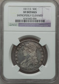 Bust Half Dollars: , 1817/3 50C -- Improperly Cleaned -- NGC Details. XF. NGC Census:(15/80). PCGS Population (26/90). Numismedia Wsl. Price f...