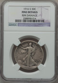 Walking Liberty Half Dollars: , 1916-S 50C -- Rim Damage -- NGC Details. Fine. NGC Census:(19/527). PCGS Population (44/904). Mintage: 508,000. Numismedia...