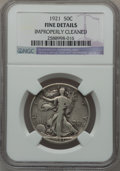 Walking Liberty Half Dollars: , 1921 50C -- Improperly Cleaned -- NGC Details. Fine. NGC Census:(50/365). PCGS Population (76/589). Mintage: 246,000. Numi...