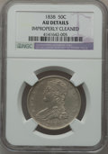 Reeded Edge Half Dollars: , 1838 50C -- Improperly Cleaned -- NGC Details. AU. NGC Census:(58/697). PCGS Population (119/541). Mintage: 3,546,000. Num...
