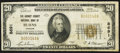 National Bank Notes:Oregon, Burns, OR - $20 1929 Ty. 1 The Harney County NB Ch. # 8691. ...