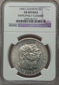 Commemorative Silver: , 1900 $1 Lafayette Dollar -- Improperly Cleaned -- NGC Details. AU.NGC Census: (7/2394). PCGS Population (56/3173). Mintage...