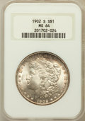 Morgan Dollars: , 1902-S $1 MS64 NGC. NGC Census: (812/110). PCGS Population(1411/325). Mintage: 1,530,000. Numismedia Wsl. Price for proble...