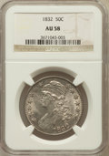 Bust Half Dollars, 1832 50C Small Letters AU58 NGC. NGC Census: (452/491). PCGSPopulation (299/352). Mintage: 4,797,000. Numismedia Wsl. Pric...