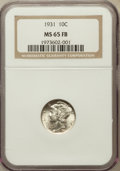 Mercury Dimes: , 1931 10C MS65 Full Bands NGC. NGC Census: (55/12). PCGS Population(106/79). Mintage: 3,150,000. Numismedia Wsl. Price for ...