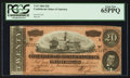 Confederate Notes:1864 Issues, T67 $20 1864 PF-15 Cr. 515.. ...